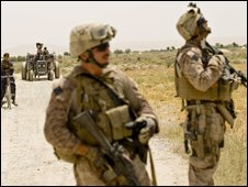 US Marines in Helmand Province