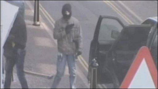 CCTV footage of the raid