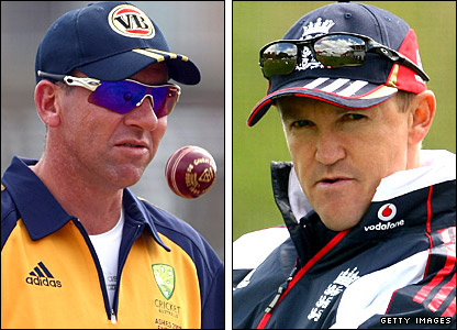 Australia coach Tim Nielsen and England's Andy Flower