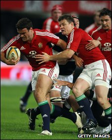 Jamie Roberts and Brian O'Driscoll