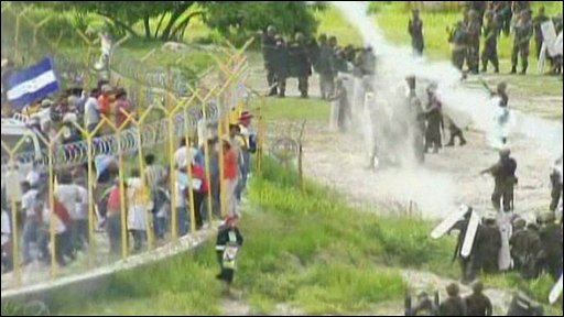 Troops fire tear gas at Zeyala supporters