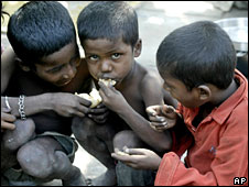 India poor children