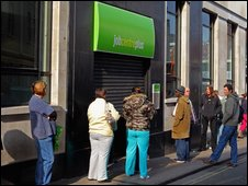 Queue outside job centre