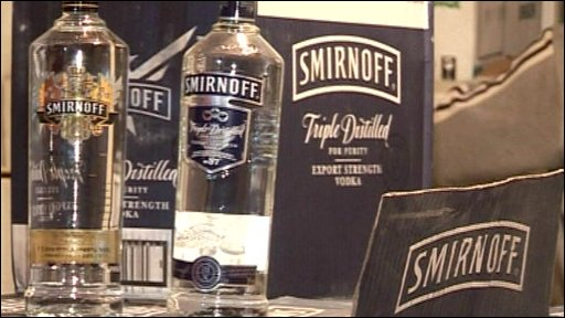Bottles of vodka in smugglers' horde