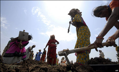 A jobs for work programme in a village in India