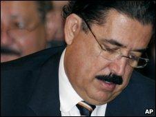 Ousted President Zelaya of Honduras