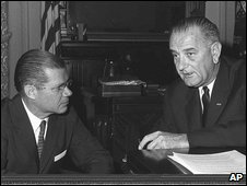 Robert McNamara with President Lyndon Johnson in 1963