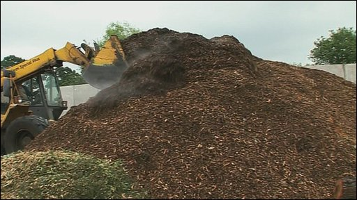 Woodchip mountain