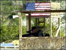 Guard at Guantanamo Bay