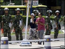Police in Urumqi