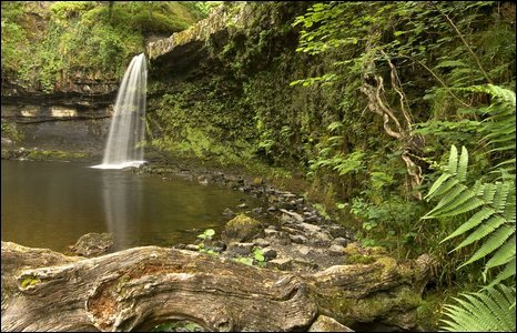 This shot was taken while John Taylor hiked to the Sgwd Gwladys falls (Lady Falls) in the Vale of Neath with his four-year-old daughter Maddyson