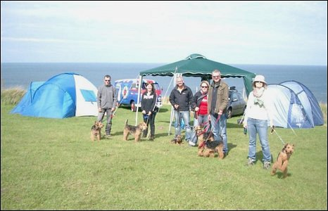 Members of WELTAF (Welsh Terriers and Friends) gather during a camping trip to Nefyn on the Llyn Peninsula (Ellaitchbee).