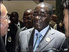 Robert Mugabe at the AU summit in Libya on 2 July