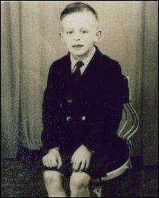Ron McCartan, aged 7