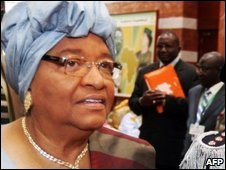 President Ellen Johnson-Sirleaf at the AU summit in Libya, 02/07