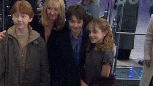 Rupert Grint, J.K Rowling, Daniel Radcliffe, Emma Watson