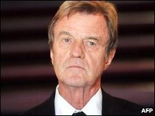 French Foreign Minister, Bernard Kouchner, pictured 14 June, 2009