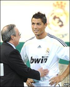 Florentino Perez and Cristiano Ronaldo