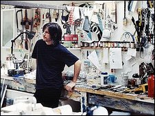 John Squire in his studio
