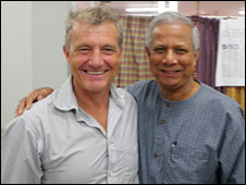 Paul Rose (L) and Muhammad Yunus (R)