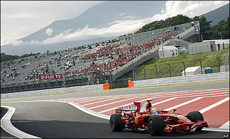 Felipe Massa's Ferrari at last year's Japanese Grand Prix