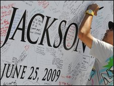 Jackson memorial, AFP/Getty