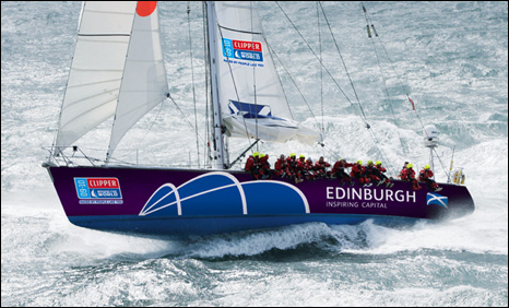 Artist's impression of how the Edinburgh yacht will look