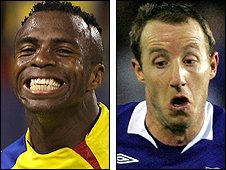 Christian Benitez and Lee Bowyer