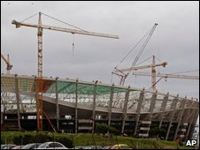 One of the stadiums which will be used during the 2010 World Cup in South Africa