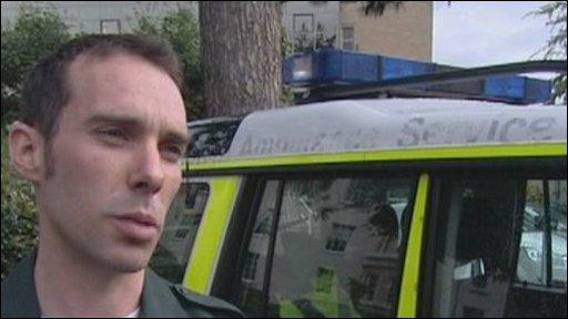 Paramedic Chris Hewitt