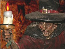 Witch statue at Wookey Hole
