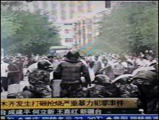 Grab of protests from CCTV, 05/07