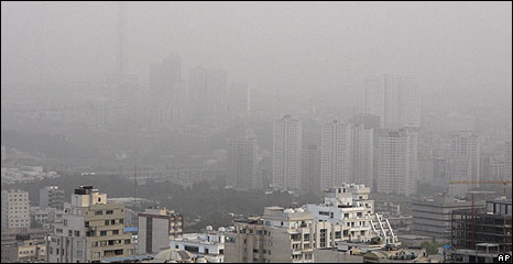 A dust storm in Tehran, Monday 6 July