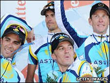 Astana enjoyed the stage win - but Cancellara stays in yellow