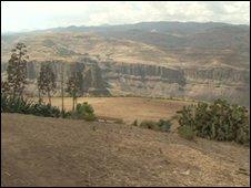 Arid Ethiopian highlands