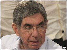 Oscar Arias, pictured on 29 June, 2009