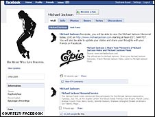 Michael Jackson Facebook page