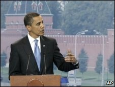 Mr Obama in Moscow, 7 July