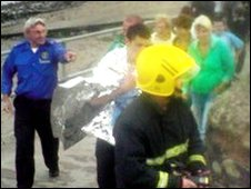 Emergency services responded after the youths got into difficulties