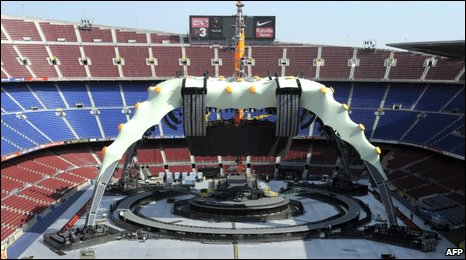 U2 stage in Barcelona