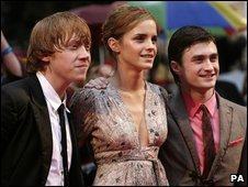 Harry Potter stars at the premiere