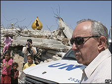 Un investigator Richard Goldstone, Gaza, 3.06.2009