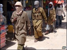 Islamist militants in Mogadishu on 29 June 2009
