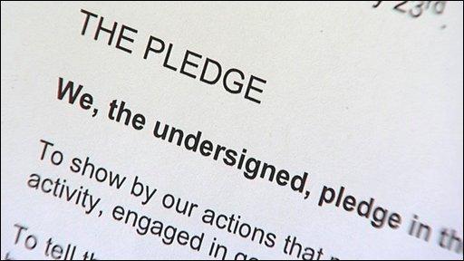 Candidates' pledge
