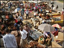 Market place in Nairobi