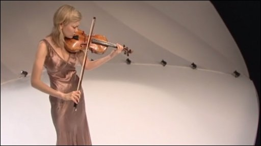Alina Ibragimova performing in Zaha Hadid's chamber music hall