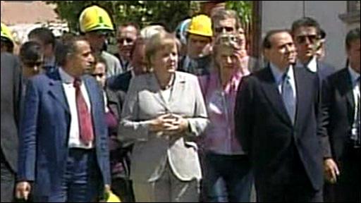 Angela Merkel and Silvio Berlusconi