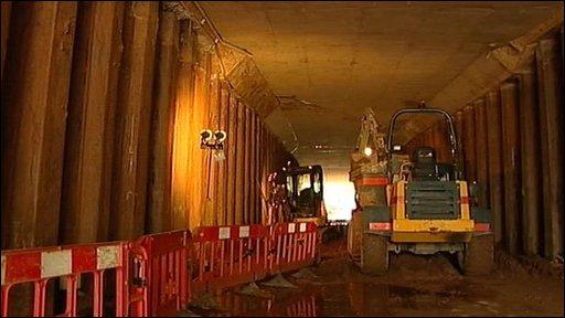 Inside of tunnel