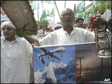 Protest in Lahore on 3 July 2009 against reported US drone strikes