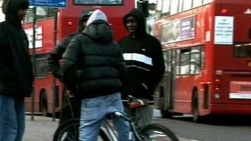 Teenagers in east London